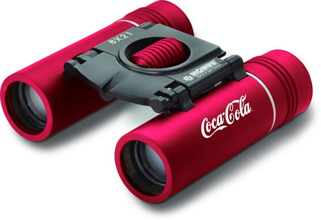 Konus 8 x 21 Binoculars with Coca Cola Printed Logo
