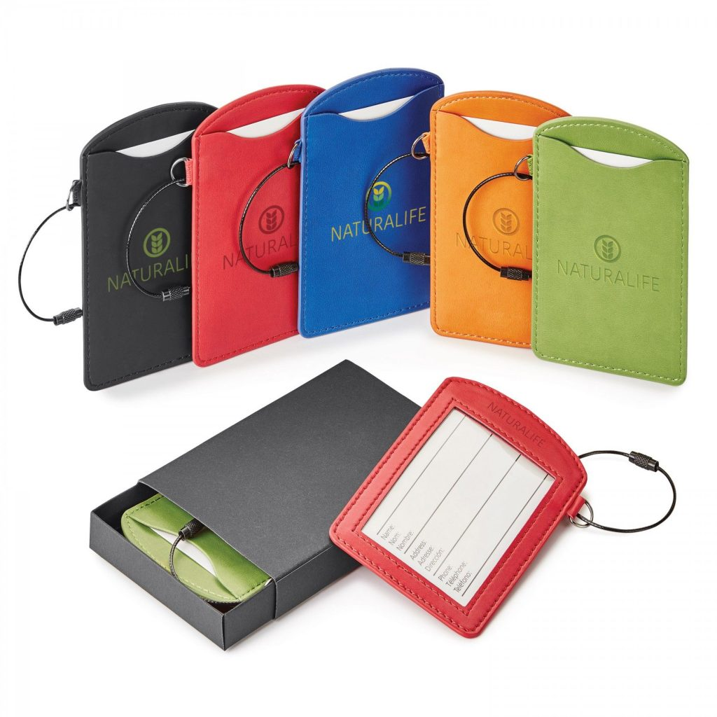 Multi-colored Luggage Tags in Give Box