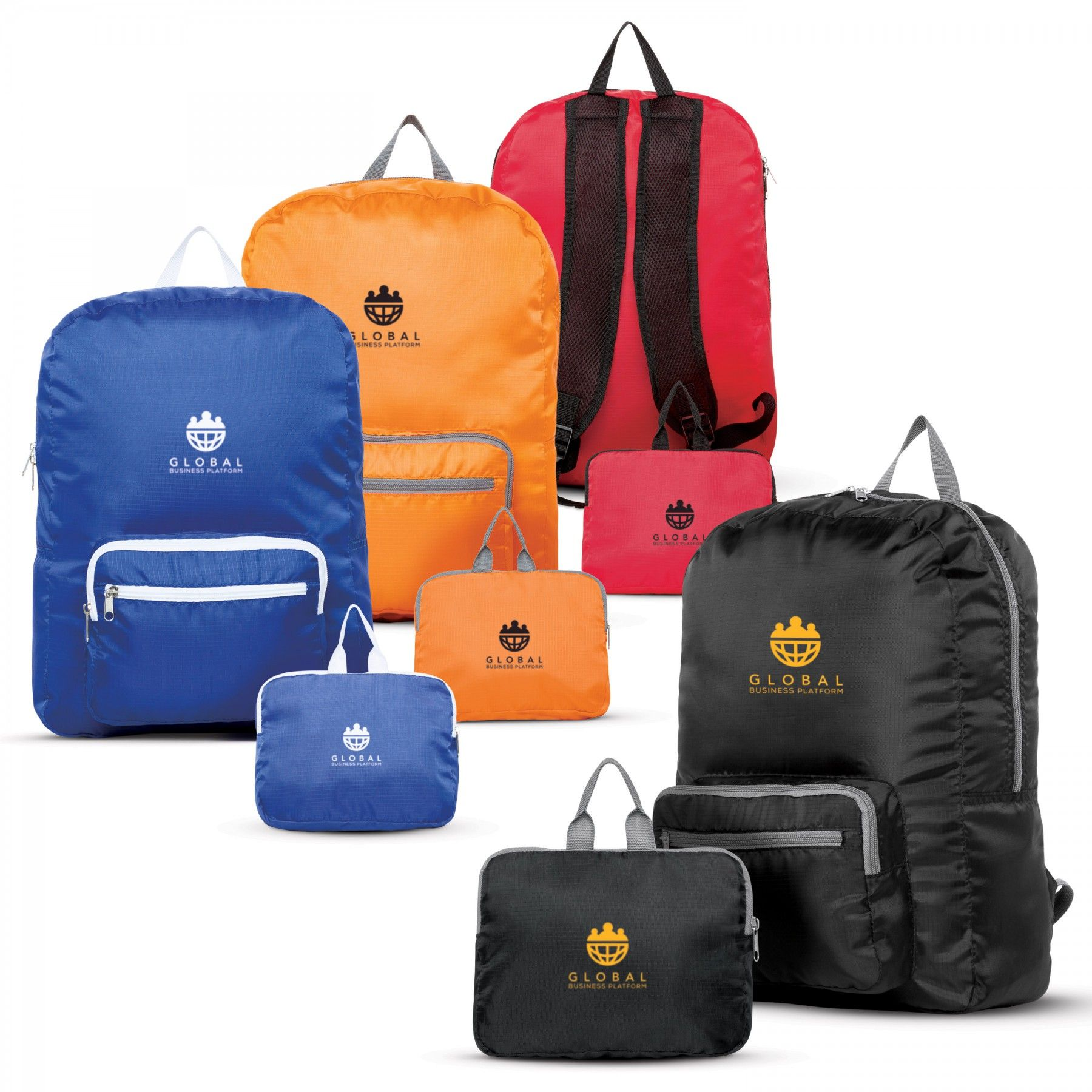 Printed 210D Ripstop Polyester Backpacks