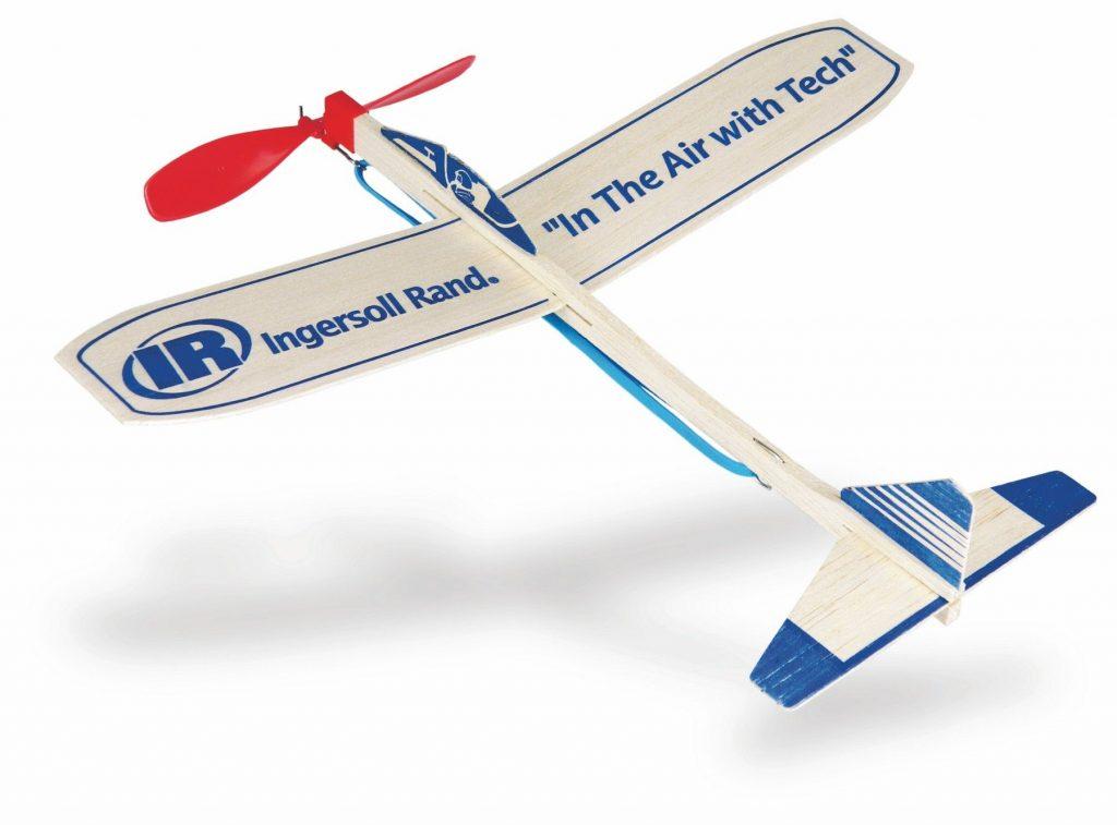 Catalog Photo - Ingersoll Rand Balsa Glider with Propeller