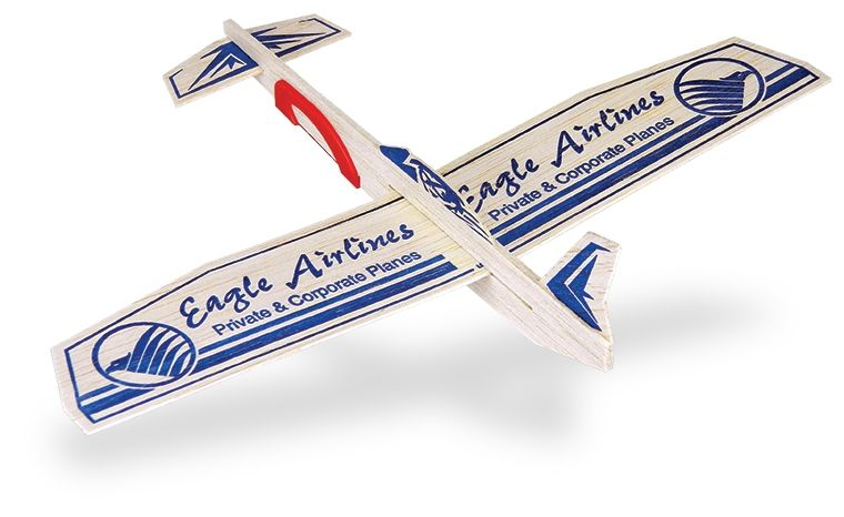 Catalog Photo - Eagle Airlines Balsa Wing Glider