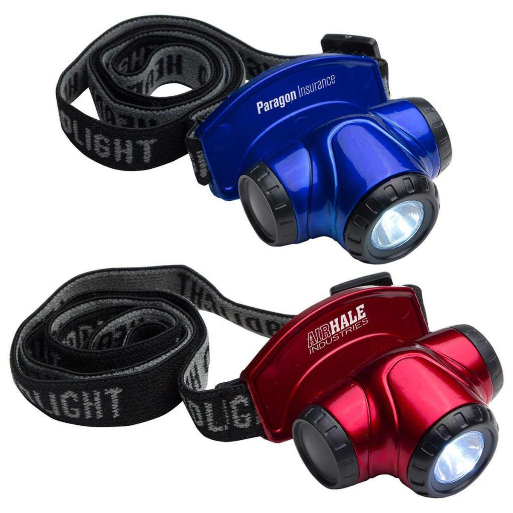 Blue & Red Headlamps - Paragon Insurance, Hale Industries Head Lamp