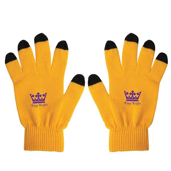 Yellow Work Gloves with touchscreen fingertips