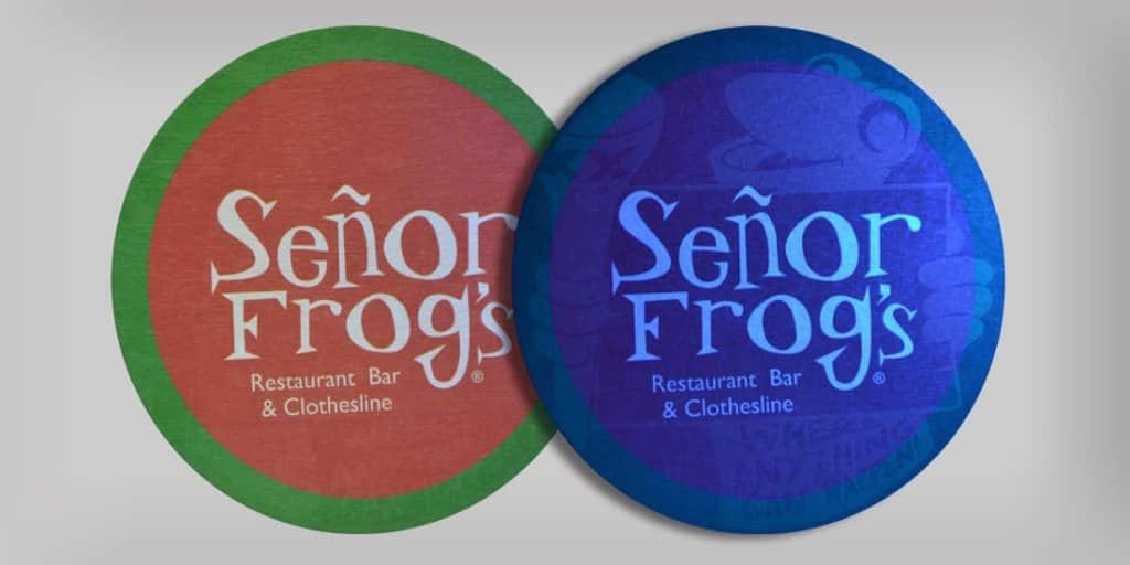 Black Light Coaster - Senor Frogs