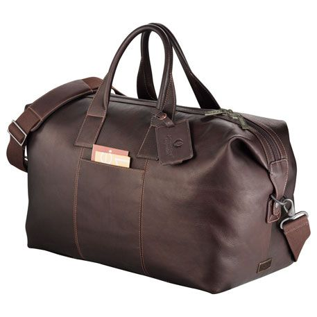 Kenneth Cole® Columbian Leather Duffel Bag with Company Logo