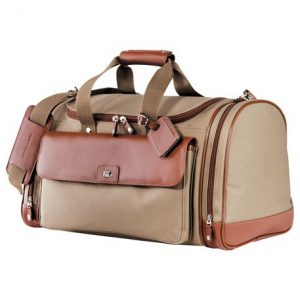 Cutter & Buck Brown Leather Duffel Bag
