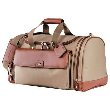 Cutter & Buck Brown Leather Duffel Bag