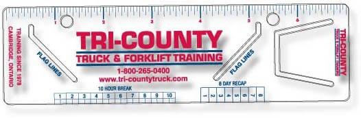 Tri-County Truck Training Logbook Rulers