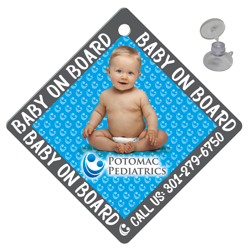 Baby on Board Sign with Suction Cup