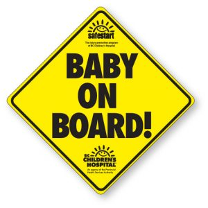 Baby on Board Window Decal
