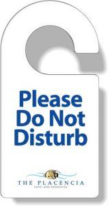 PVC Door Hanger - Do Not Disturb