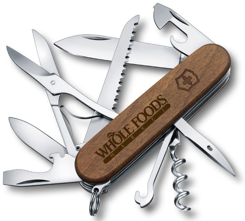 Huntsman Wood Laser Engraved Pocket Knife