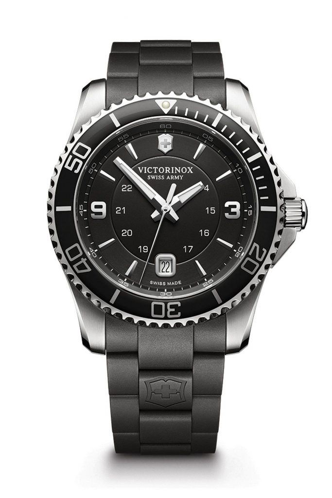 Maverick Black Watch with Rubber Strap