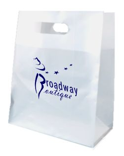 Custom Printed Frosted Die-cut Plastic Shopping Bag