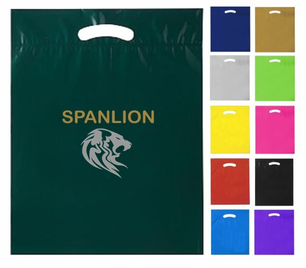 Custom Printed Plastic Bags in Assorted Colours