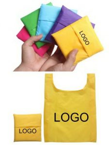 Yellow Shopping Bag in Pouch