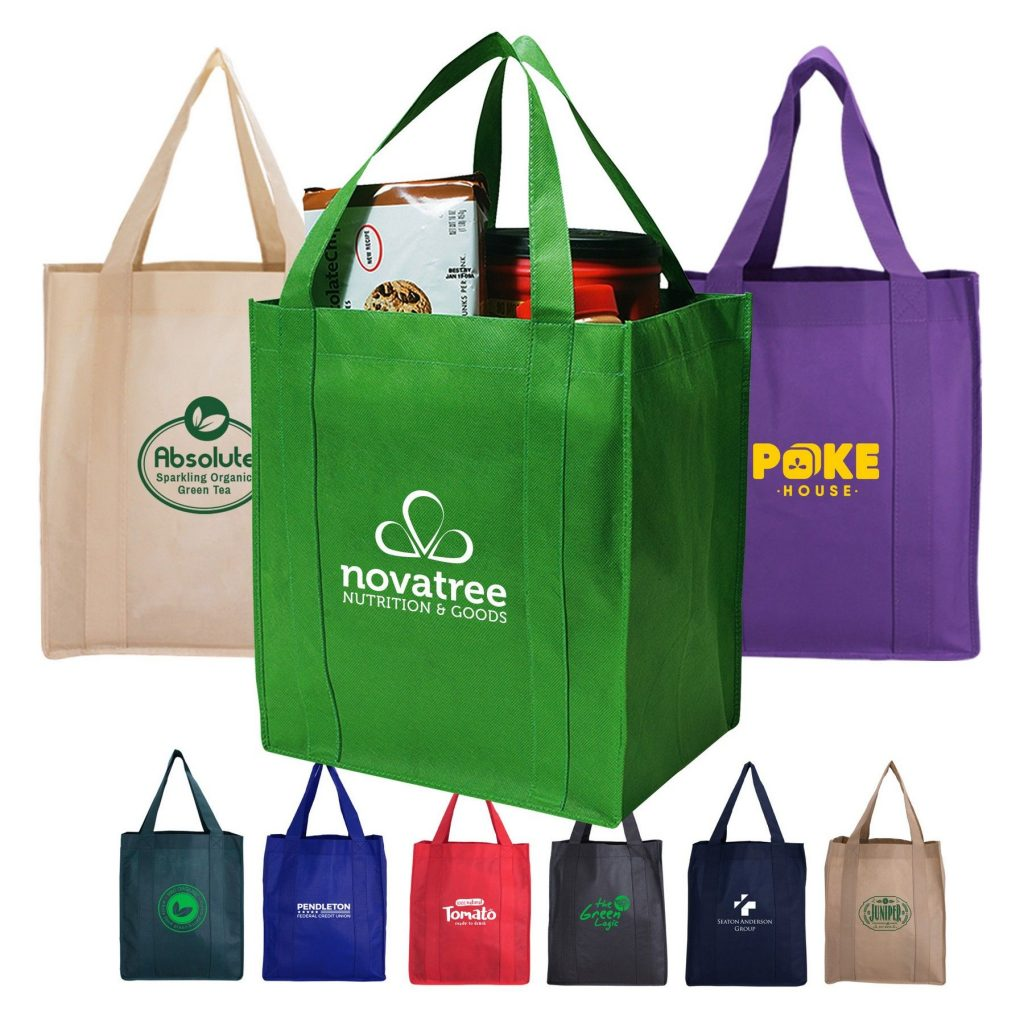Large reusable Shopping Tote Bags in assorted colours