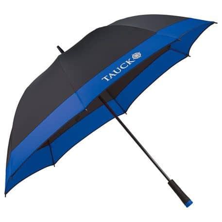 Black Umbrella with Blue Trim & Fibreglass Shaft