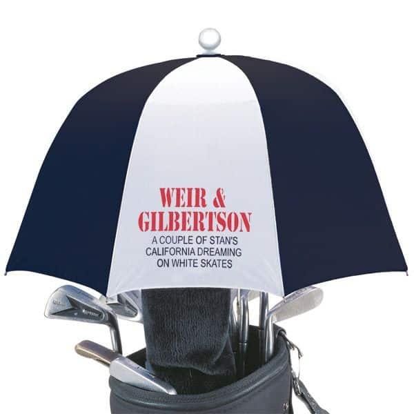 Golf Bag Umbrella with Company Logo