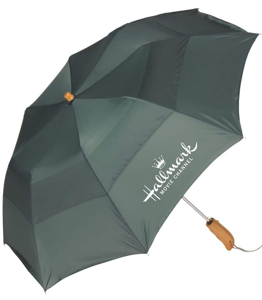 Black Umbrella with Hallmark Logo