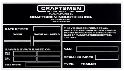 Printed Metal Plates - Craftsmen Industries Inc.