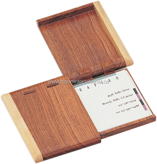 Wood Business Card Cases