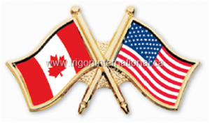 Canada-USA Crossed Flag Lapel Pins