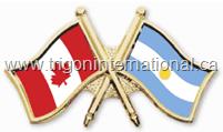 Canada-Argentina Crossed Flag Lapel Pins