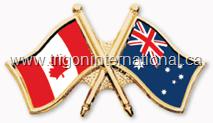 Canada-Australia Crossed Flag Lapel Pins