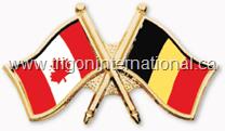 Canada-Belgium Crossed Flag Lapel Pins