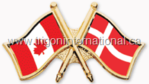 Canada-Denmark Crossed Flag Lapel Pins