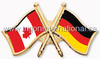 Canada-Germany Crossed Flag Lapel Pins