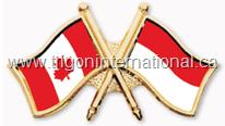 Canada-Indonesia Crossed Flag Lapel Pins