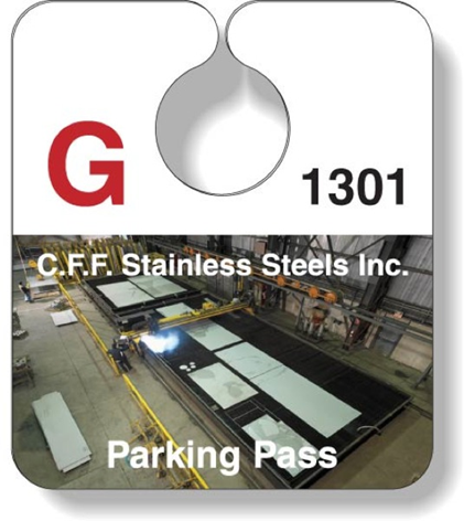 C.F.F. Stainless Steels Inc. Parking Pass