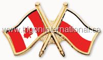 Crossed Flag Lapel Pins