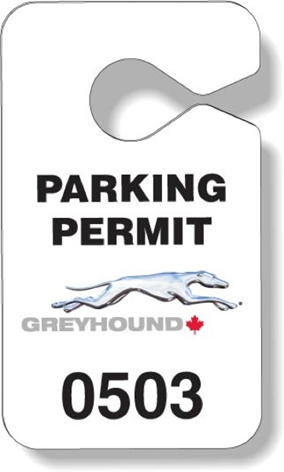 Greyhound Bus Lines Parking Pass
