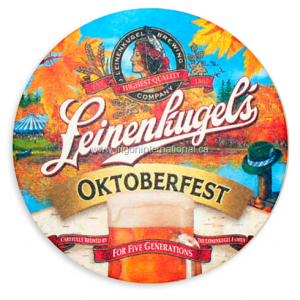Full Color Round Coaster - Leinenhugel's Oktoberfest