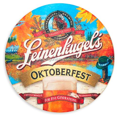 Full Color Round Coaster - Leinenhugel's Oktoberfest
