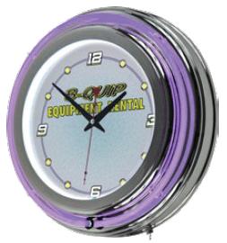 B=QUIP EQUIPMENT RENTAL NEON CLOCK