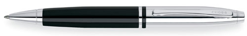 Cross Calais Ball Pen - Chrome / Black Lacquer