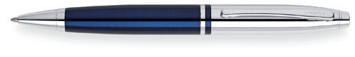 Cross Calais Ball Pen - Chrome / Blue Lacquer