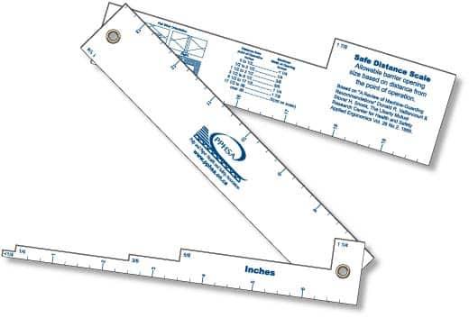 Custom Printed Hinged Guard Opening Scales Rulers