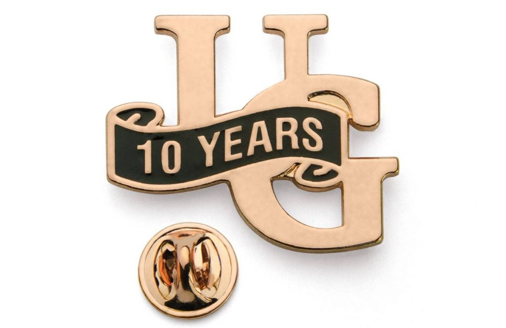 10 Years Service Lapel Pin