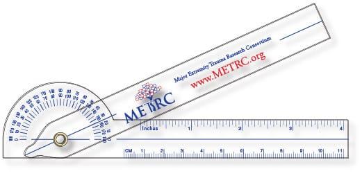 METRC.org Folding Goniometer