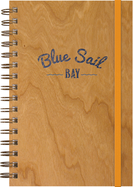Blue Sail Bay Cherry Woodgrain Journal