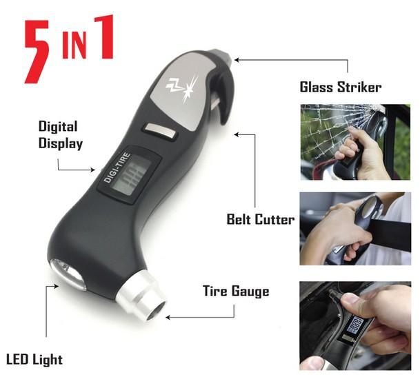 Glass Break Tool - Seatbelt Cutter