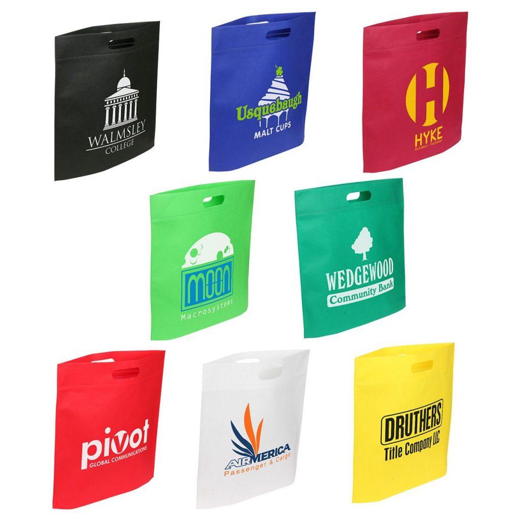Custom Printed Die-Cut Handled Trade Show Bags