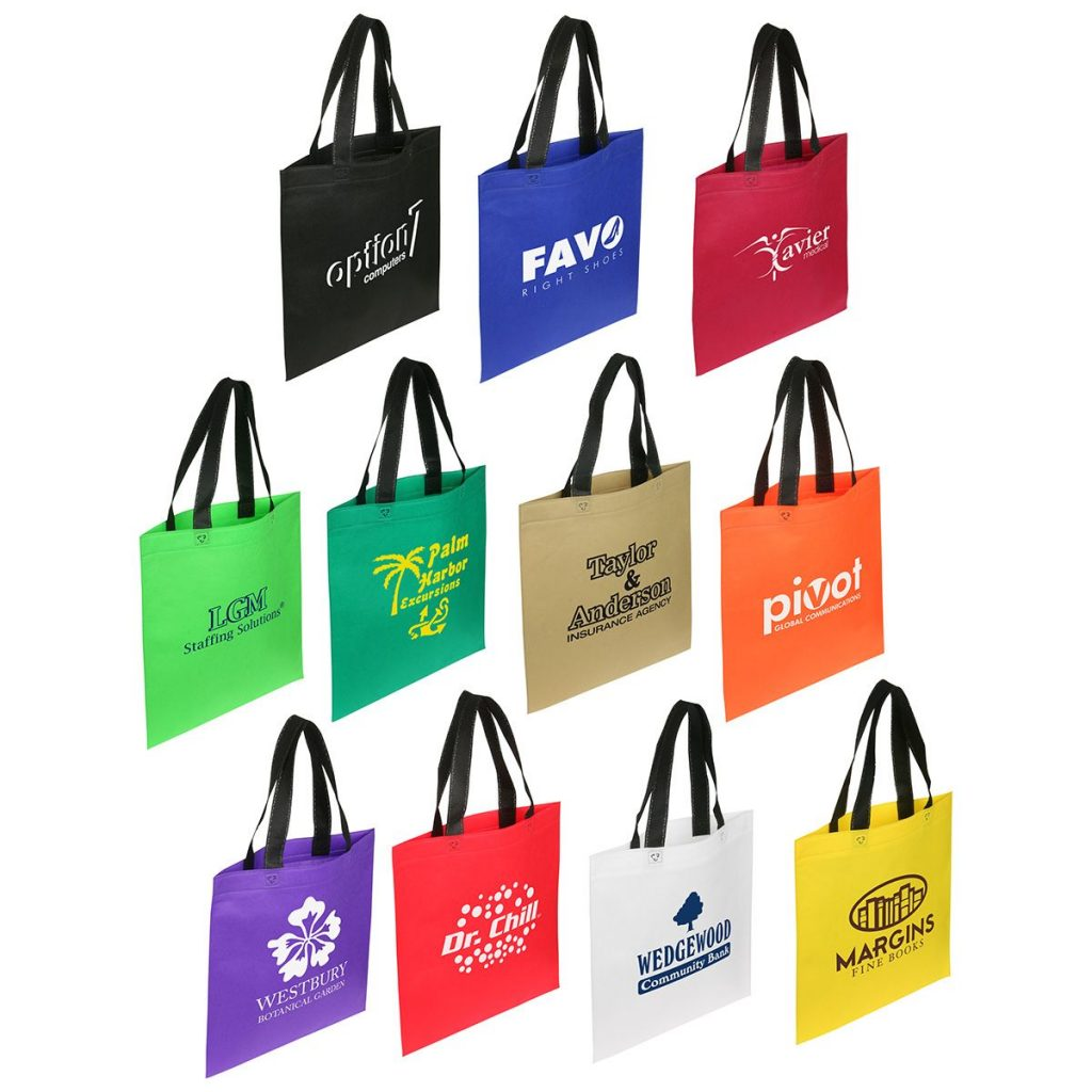 Custom Printed Trade Show Bags with Black Handle