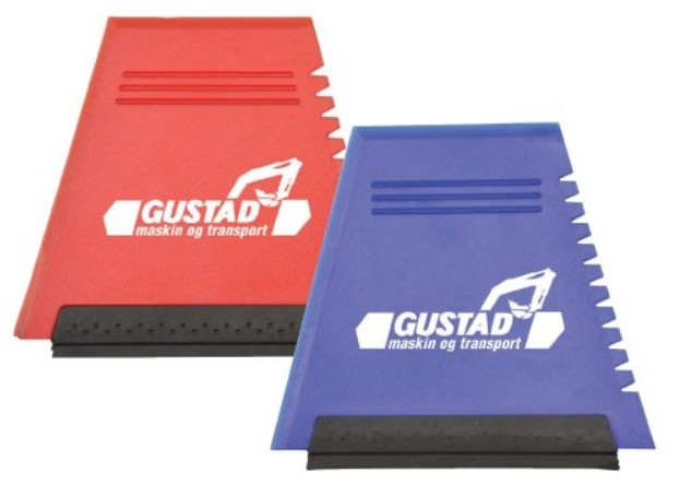 Gustad Transport Flat Ice Scrapers with Rubber Blade