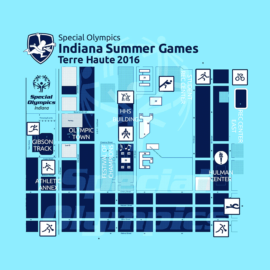Custom Printed Bandana- Indiana Summer Games